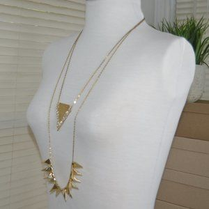 Jewelmint layered gold-toned necklace